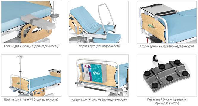 Модификации кровати акушерской КА